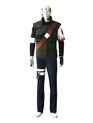 Inspiriert von Naruto Sakumo Hatake Anime Cosplay Kostüme Cosplay Kostüme Patchwork Langarm Weste Top Hosen Armreif Gurt Für Mann