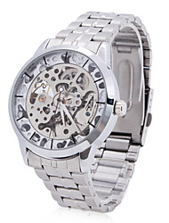 WINNER® Men's Alloy Analog Mechanical Casual Watch (Silver) Cool Watch Unique Watch