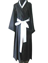 baratos -Inspirado por Fantasias Fantasias Anime Fantasias de Cosplay Ternos de Cosplay / Chimono Manga Longa Roupa-Interior / Cinto / Capa de Kimono Para Homens / Mulheres