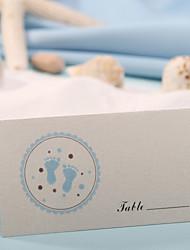Недорогие -карта места - синие ноги печать (набор из 12) свадебный прием красивый
