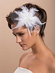 Недорогие -великолепная свадьба тюль перо цветок свадебный / корсаж / головной убор
