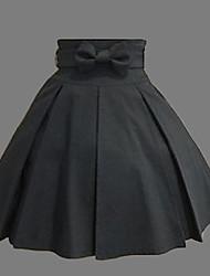 baratos -Lolita Clássica e Tradicional Clássica Lolita Mulheres Saia Cosplay Preto Comprimento Médio Trajes da Noite das Bruxas