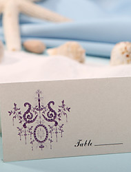 Недорогие -Место карты и держатели карты место - фиолетовый цветок печати (набор из 12)