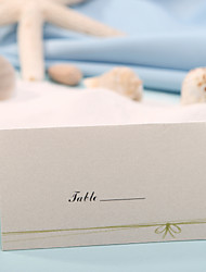 cheap -Place Card - Green Bow (Set of 12) Placecard Holders Wedding Reception