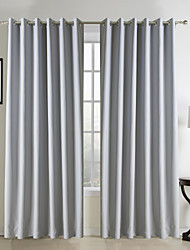 Curtain Modern , Solid Living Room Polyester Material Curtains Drapes Home Decoration For Window