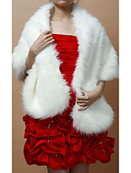 cheap -Sleeveless Faux Fur Wedding Party Evening Fur Wraps Wedding  Wraps Shawls