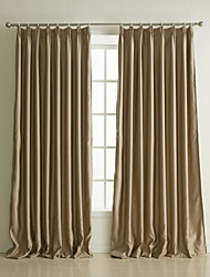 Two Panels Curtain Neoclassical , Solid Living Room Polyester Material Blackout Curtains Drapes Home Decoration For Window