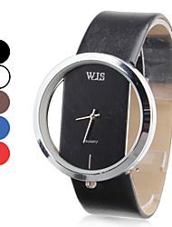 Mulheres Relógio Elegante Relógio de Moda Relógio de Pulso Quartzo Japonês Quartzo Couro Banda Preta