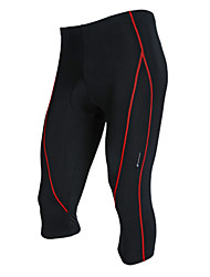 cheap -Nuckily Men's Cycling 3/4 Tights - Gray Red Bike 3/4 Tights, Quick Dry, Breathable