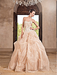 cheap -A-Line Strapless Sweetheart Floor Length Organza Prom Dress by TS Couture®