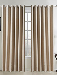 Two Panels Curtain Neoclassical Solid Living Room Faux Linen Material Curtains Drapes Home Decoration