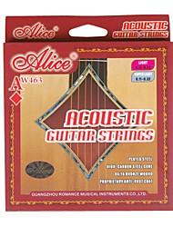 billige -Alice - (AW463-L) forkromet stål Acoustic Guitar Strings (012-053)