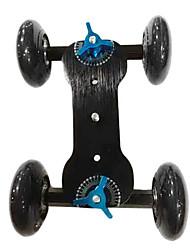 4 Wheel Desktop DSLR Camera Movie Photograph Rail Track Slider Table Dolly Car (Black)