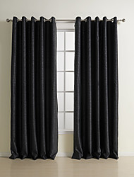 cheap -Blackout Curtains Drapes Bedroom Solid Colored Polyester Embossed