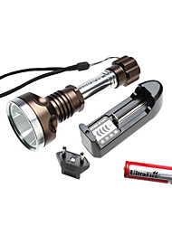 UltraFire 2807 5-Mode del CREE XM-L T6 LED di serie torcia elettrica (1000LM, 1x18650, rame)