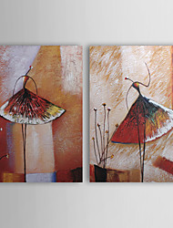 Ručno oslikana Sažetak Horizontalan Platno Hang oslikana uljanim bojama Početna Dekoracija Dvije plohe