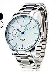 cheap -Men's Dress Watch Quartz Casual Watch Alloy Band Charm Silver