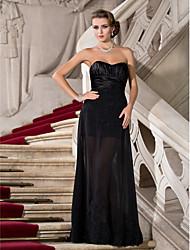 Guaina / colonna senza spalline lunghezza pavimento chiffon abito da sera in raso lunghezza con perline da ts couture®