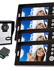 baratos -konx® câmera de visão noturna sem fio com monitor de telefone da porta de 7 polegadas (1Camera 4 monitores)