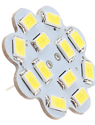 1.5w g4 luces de techo led 12 smd 5630 150lm blanco natural 6000k dc 12v