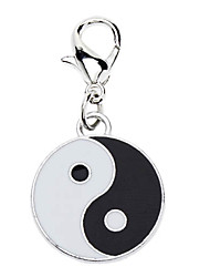 cheap -Dog tags Taichi Style Collar Charm for Dogs Cats (Black with White)