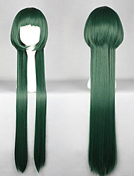 Parrucche Cosplay Tutor Hitman Reborn! Yuni Verde Lungo Anime Parrucche Cosplay 100 CM Tessuno resistente a calore Donna