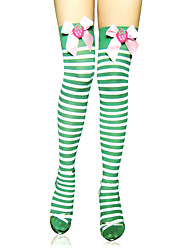 cheap -Socks / Long Stockings Thigh High Socks Sweet Lolita Dress Lolita Sweet Lolita Lolita Women's Lolita Accessories Striped Stripe Stockings