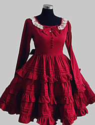 cheap -Sweet Lolita Dress Princess Women's Dress Cosplay Long Sleeves Knee Length