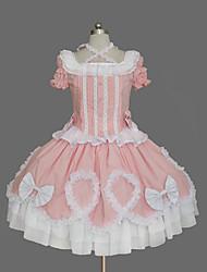 Sweet Lolita Vintage inspirirano Žene Haljine Cosplay Kratkih rukava Srednja dužina