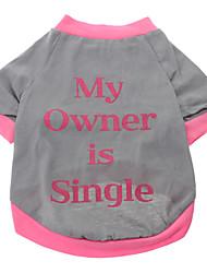 abordables -Chien Tee-shirt Vêtements pour Chien Respirable Lettre et chiffre Gris Costume Pour les animaux domestiques