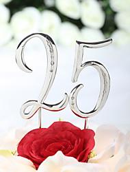 economico -Decorazioni torte Classico Cromo Anniversario Compleanno con Con diamantini Bustina PVC