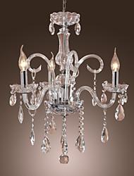economico -Cristalli Lampadari Lampada da terra - Cristallo, 110-120V / 220-240V Lampadine non incluse / 20-30㎡ / E12 / E14