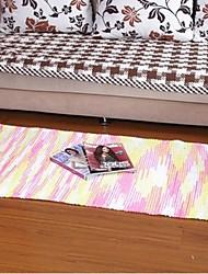 elaine bunten Baumwollteppich mit Streifen gemustert (70 * 140 cm, rosa)