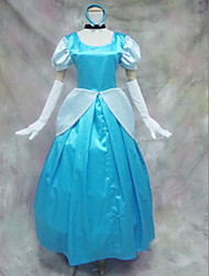 Недорогие -Золушка синий и белый Платье Хеллоуин костюм (3 шт)