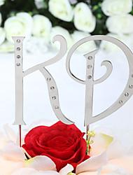 cheap -Cake Topper Non-personalized Monogram Birthday / Wedding / Anniversary / Bridal Shower / Quinceañera & Sweet Sixteen Rhinestone Silver