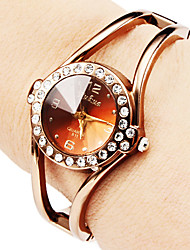 cheap -Women's Hollow Style Alloy Analog Quartz Bracelet Strap Watch (Bronze) Cool Watches Unique Watches Fashion Watch