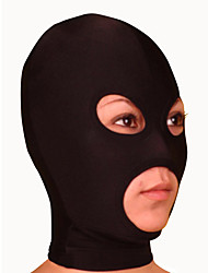 cheap -Mask Ninja Zentai Cosplay Costumes Black Solid Colored Mask Lycra Men's / Women's Halloween / High Elasticity