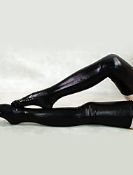 cheap -Socks / Long Stockings Ninja Zentai Cosplay Costumes White Black Solid Stockings Spandex Unisex Halloween