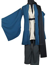 preiswerte -Inspiriert von Nurarihyon Enkel Kubinashi Anime Cosplay Kostüme Cosplay Kostüme Kimonoo Solide Langarm Mantel Hosen Gürtel Kimono Jacke