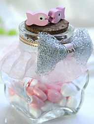 6 Piece/Set Favor Holder-Cylinder Glass Candy Jars and Bottles Non-personalised