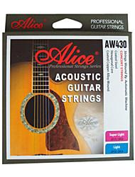 billige -Alice - (AW430-SL) belagt stål Acoustic Guitar Strings (011-052)