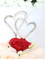 cheap -Cake Topper Classic Theme Hearts Wedding Anniversary Bridal Shower With Rhinestone PVC Bag