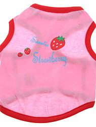 abordables -Perro Camiseta Ropa para Perro Transpirable Fruta Rosa Disfraz Para mascotas