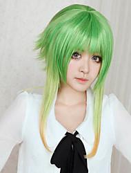 Parrucche Cosplay Vocaloid Gumi Verde Medio Anime/Videogiochi Parrucche Cosplay 45 CM Tessuno resistente a calore Donna