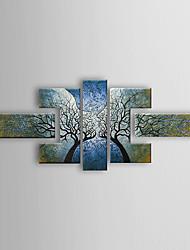 abordables -pintado a mano con pintura al óleo abstracta marco estirado - juego de 5