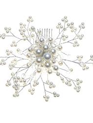 abordables -Aleación Simple Con Peines imitación perla de la Mujer