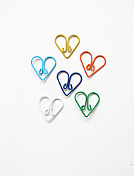 cheap -Heart Pattern Plastic Wrapped Paper Clips(10PCS)