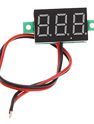 "V20D 0,56 ""-LED Zwei Line 3-Digital Direct-Current Voltmeter Metermodul (White + Green, DC 2,5 ~ 30V)"