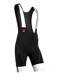 SANTIC Cycling Bib Shorts Men's Bike Bib Shorts Padded Shorts/Chamois Bottoms Quick Dry Moisture Permeability Breathable Reflective