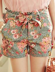 Недорогие -MLINA Сладкий цветочный шорты джинсовые для печати